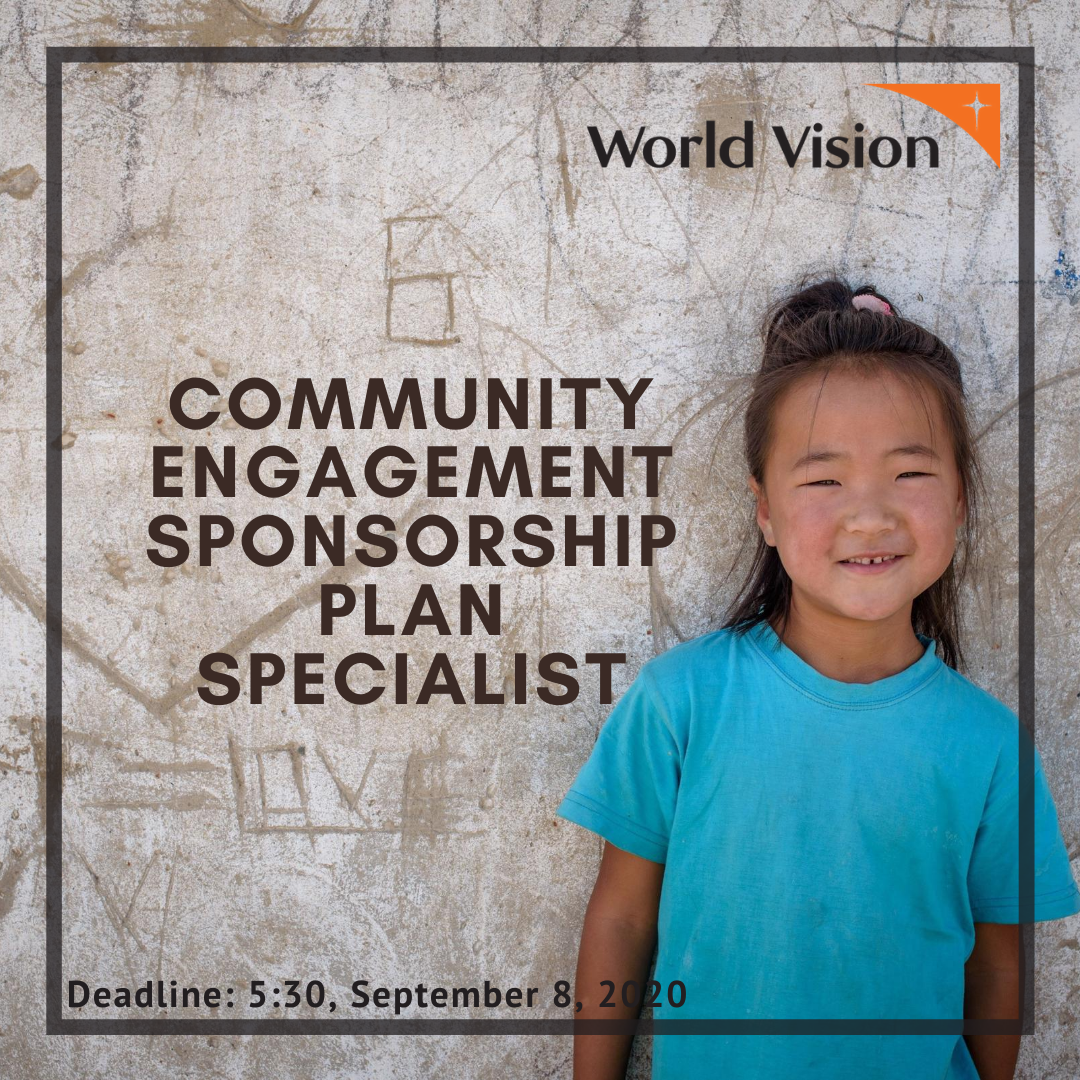 Community Engagement Sponsorship Plan Specialist in Sponsorship Department